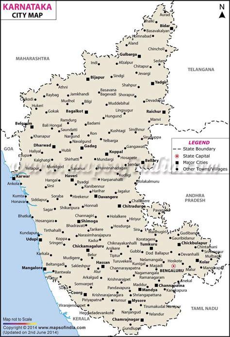 city map  karnataka india south india map