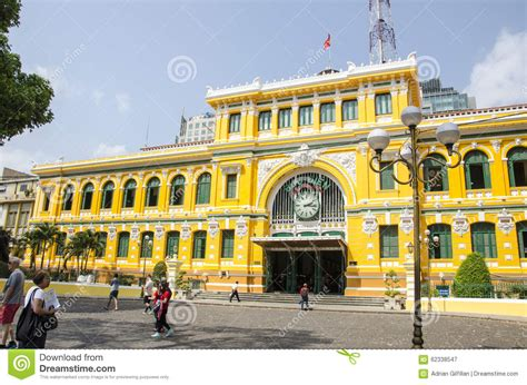 Old Post Office, Saigon,vietnam Editorial Photography
