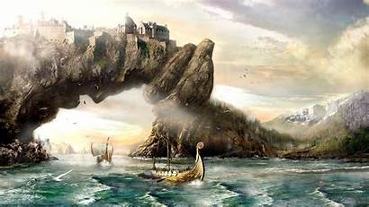 Viking Wallpapers Backgrounds Vikings Background Fantasy Skyrim