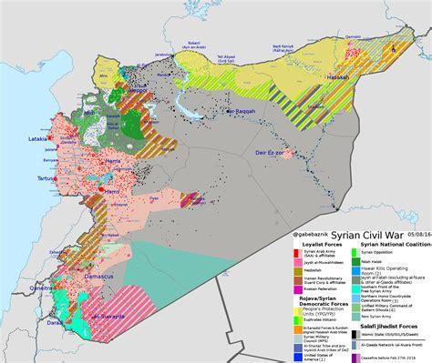 syrian civil war conflict map maps pinterest