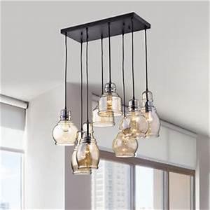 modern industrial pendant light fixture cognac glass With dining room light fixture glass