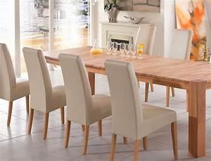 Esstisch Stühle Beige : essgruppe tischgruppe kernbuche tisch 200 300 x100 8 st hle beige marco robin ebay ~ Markanthonyermac.com Haus und Dekorationen