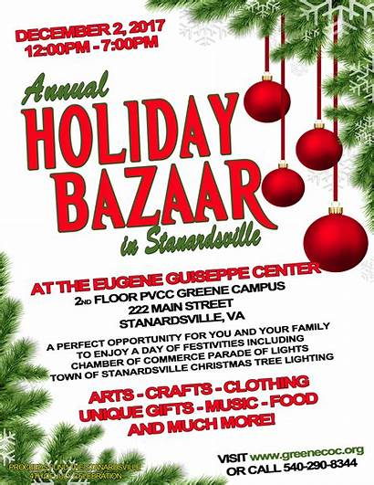 Bazaar Holiday Stanardsville Flyer 2nd December