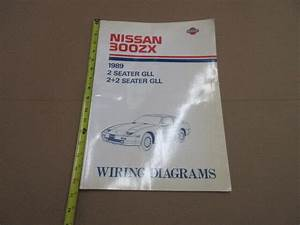 1989 Nissan 300zx Factory Large Wiring Diagram Book Super