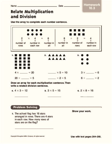 3rd grade 187 division array worksheets 3rd grade