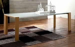 Table Plateau Verre Pied Bois : table a manger tous les fournisseurs table de repas table extensible sejour complet ~ Melissatoandfro.com Idées de Décoration