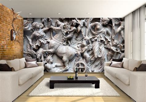 Ancient Roman Sarcophagus Custom Wallpaper Mural Print by