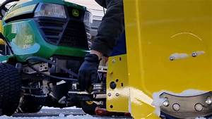 How To  Replace John Deere 44 Inch Snow Thrower Belt On 300 Series Tractor