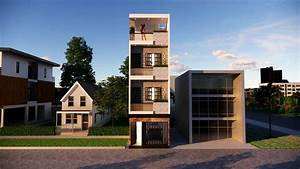 Small, Space, House, Design, 12x36, Feet, With, Parking, Complete