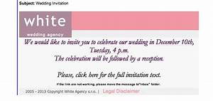 wedding invitation malware emails With wedding invitation text via email