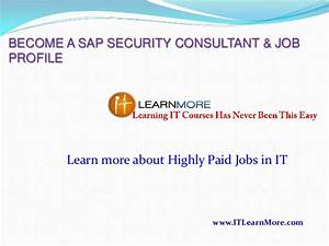 How To Become Sap Security Consultant
