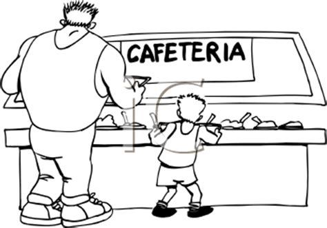 school canteen clipart black and white cafeteria clipart 45
