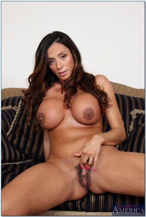 busty latina milf ariella ferrera stripping off her dress and lingerie