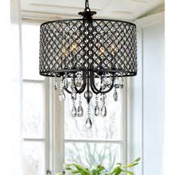 Ceiling Fan With Crystal Chandelier Light Kit by Antique Black Crystal Chandelier Drum Pendant Ceiling
