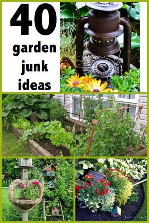 garden junk ideas  pinterest garden ladder