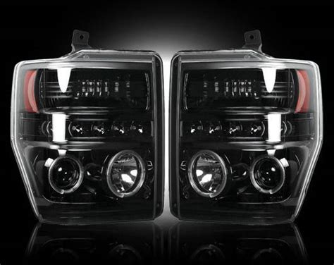 recon bk smoked projector headlights ford