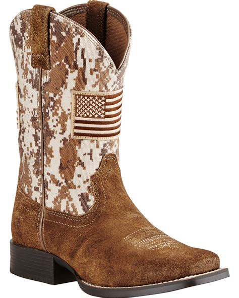 boot barn boots ariat boys brown patriot boots wide square toe boot barn