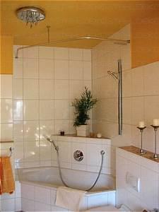 Duschvorhangstange Badewanne L Form : runde duschvorhangstange f r viertelkreis badewanne farben edelstahl oder wei ~ Orissabook.com Haus und Dekorationen