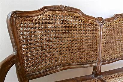 Settee Cane Antique French Double