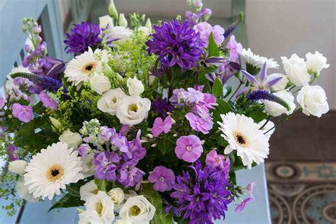mixed flower bouquet  shades  purple  violet