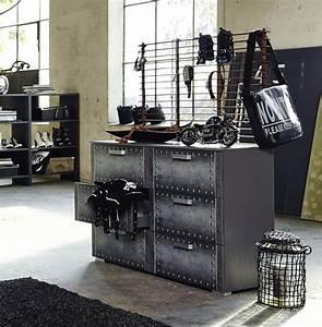 Möbel Aus Rohren : kommode industrial print optik graphit k che ~ Michelbontemps.com Haus und Dekorationen