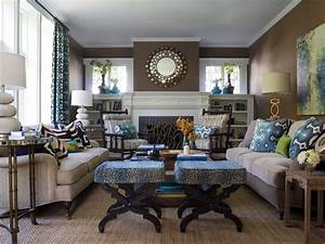 20 blue and brown living room designs decorating ideas for Brown living room ideas