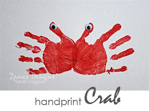 Handprint Crab  2paws Designs