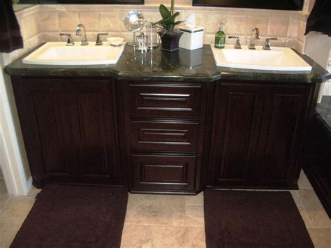 bathroom sinks and cabinets ideas bathroom interesting bathroom vanity ideas with dark wood cabinets and brown rug plus tile