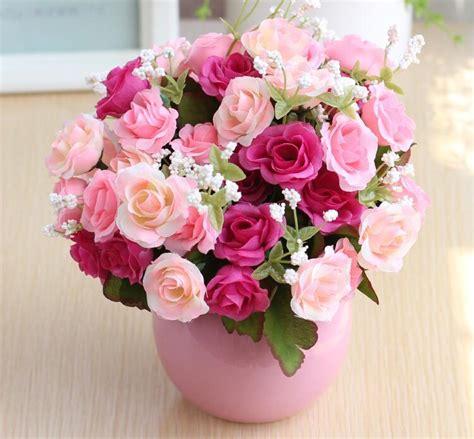 artificial flowers rose wedding bouquet flower