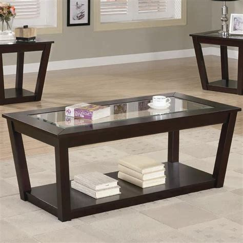 furniture coffee table set with book shelves also pattern