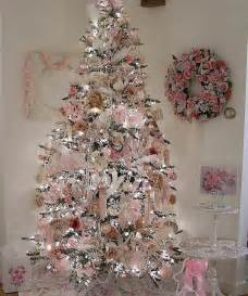 pink silver christmas tree a lil bit of this that pinterest christmas trees shabby