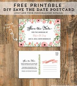 diy save the date postcard free printable mountain With free printable post wedding invitations