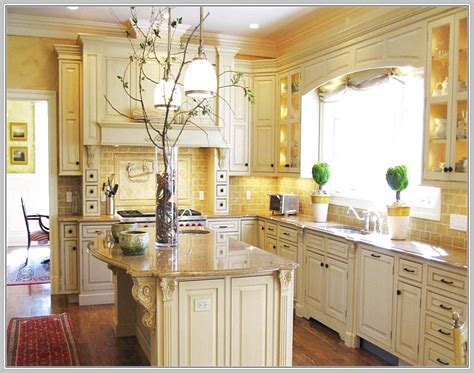 White Cabinets Kitchen Tile Backsplash  Home Design Ideas