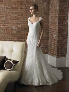 a line wedding dresses with cap sleeves pictures ideas With capped sleeve wedding dress