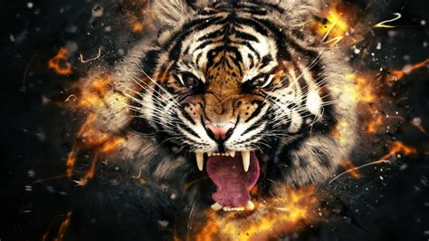 3d Animated Horror Wallpaper - evil horror spooky creepy tiger wallpaper 1920x1080