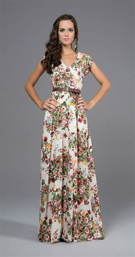 Gorgeous and Colorful Floral Maxi Floor Length gowns and A- Line Flowing Outfits u2013 Designers ...