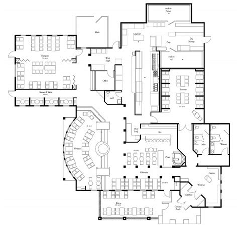 restaurant floor plan examples ideas