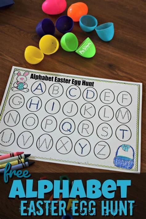 alphabet easter egg hunt  homeschool deals