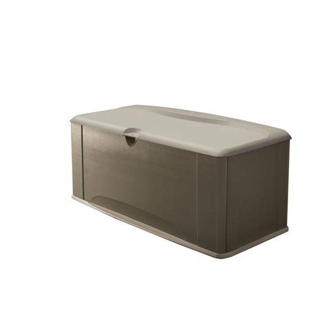 Rubbermaid Deck Box Home Hardware by Rubbermaid 120 Gal Deck Box With Seat Fg5e3900olvss The