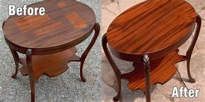 Wood Furniture Refinishing at the galleria