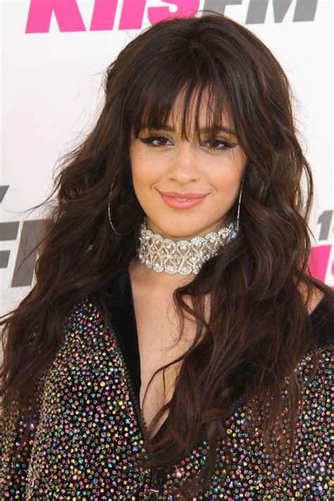 Camila Cabello Wavy Dark Brown Barrel Curls Long Layers