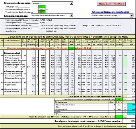 calcul reseau gaz combustibles reseaux canalisations