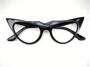 reserved black cat eye eyeglasses by vintage50seyewear