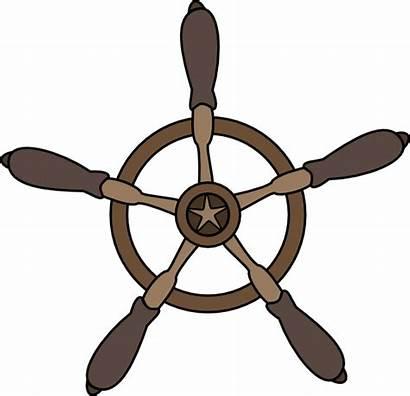 Clipart Ship Clip Wheel Steering Timon Boat