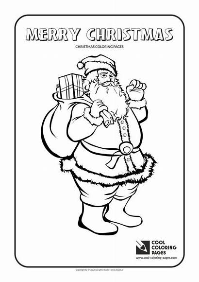 Coloring Christmas Santa Cool Pages Claus Word