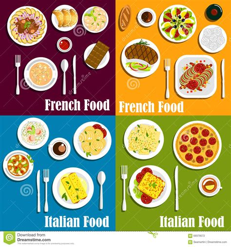 ratatouille cuisine italy and cuisine dishes stock vector