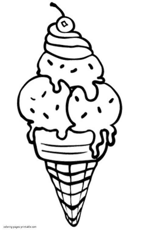 beautiful ice cream coloring page coloring pages