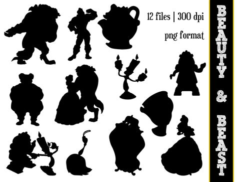 Little Mermaid And Flounder Pumpkin Stencil by Beauty Amp The Beast Silhouettes Disney Princess Belle