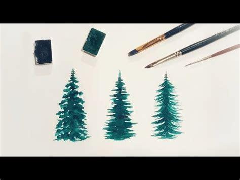 watercolor trees  beginners youtube