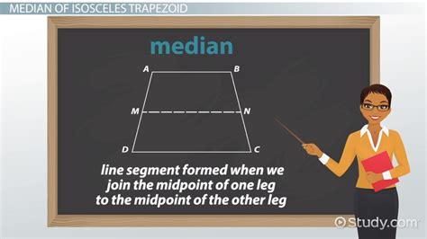isosceles trapezoid definition properties formula